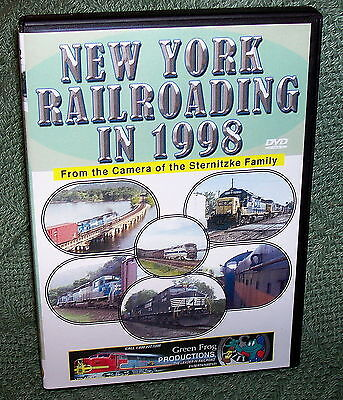 "cp093 TRAIN VIDEO DVD ""NEW YORK RAILROADING IN 1998"""