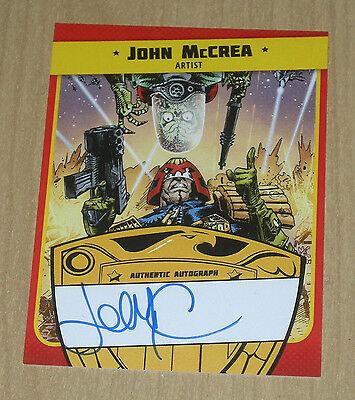 2015 Topps Mars Attacks Occupation Kickstarter Judge Dredd autograph John McCrea