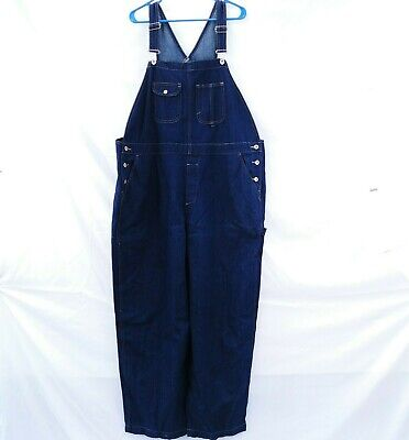 Bib Overalls 22W Jean Womens Faded Glory Denim Blue Carpenter Costume NEW (Carpenter Costume)