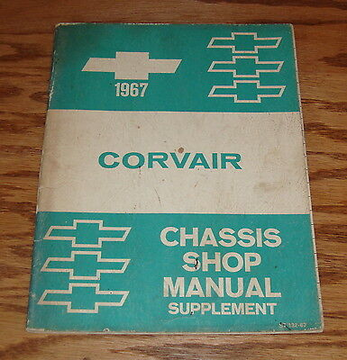1967 Chevrolet Corvair Chassis Shop Manual Supplement 67 Chevy ()
