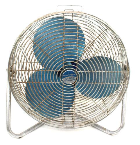 Vintage Patton High Velocity Fan Air Circulator Blue Metal Blade 3 Speed Working