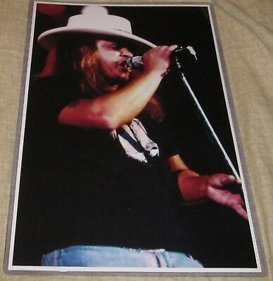 RONNIE VAN ZANT CLOSE UP PHOTO REPLICA CONCERT POSTER W/PROTECTIVE SLEEVE