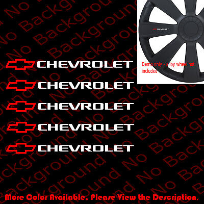 5 pc x Chevrolet/Chevy Alloy Wheel/Rim/Door Vinyl Die Cut Car Window Decal -