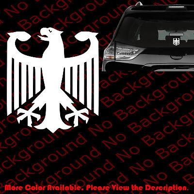 GERMAN EAGLE FLAG Vinyl Decal DIE CUT No Background Window Decal Sticker AM001
