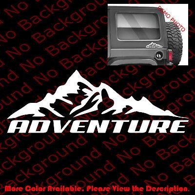 ADVENTURE Mountain Life Vinyl Die Cut Car Windows Decal for Jeep Wrangler SP038 ()