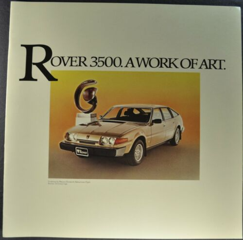 1980 Rover 3500 Large Catalog Brochure V8 Sedan SD1 Excellent Original 80