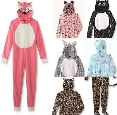Women's Pajamas 1 Piece Hooded  JOE BOXER Costume Junior's Footed & NO-Foot