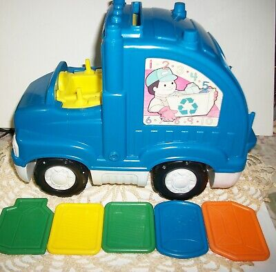 2009 Fisher Price Sing n Learn Garbage Truck with 5 Cards # P8711