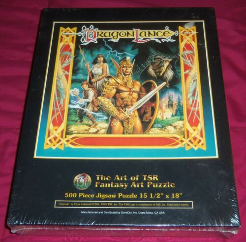 ART OF TSR DRAGONLANCE LEGENDS 1995 FANTASY ART PUZZLE CLYDE CALDWELL NEW SEALED