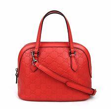 Gucci Convertible Guccissima Crossbody Mini Dome Purse Red 341504 6511