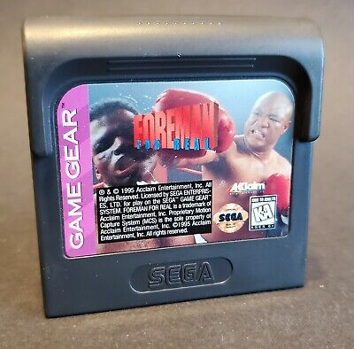 Foreman for Real (Sega Game Gear, 1995) Cartridge Only