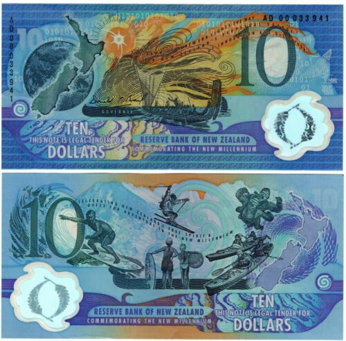 New Zealand 10 Dollars 2000 P190 - Commemorative - VF
