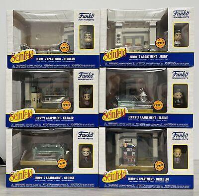 Seinfeld Funko Mini Moments Diorama: Complete CHASE Apartment Sets (6)