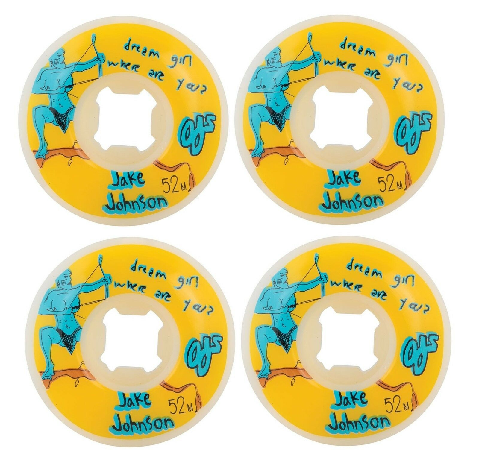 OJ 52mm Johnson Dream Girl 101a Skateboard Wheels