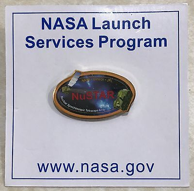 Nustar  Lsp   Launch Services Program   Nasa Pin Pinback On Issued Card