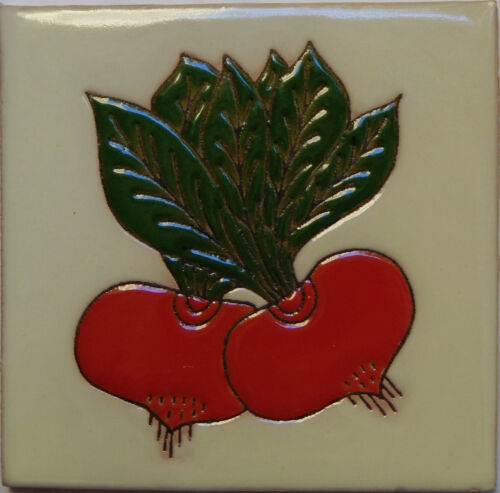 Mexican Tile Malibu Vegetable Santa Barbara Tiles Cuerda Seca Radish F-10