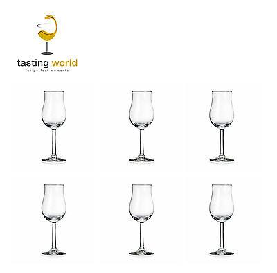6 Stück RASTAL Bugatti Whisky Nosing Tasting Glas Gläser mit EICHSTRICH 2cl/4cl