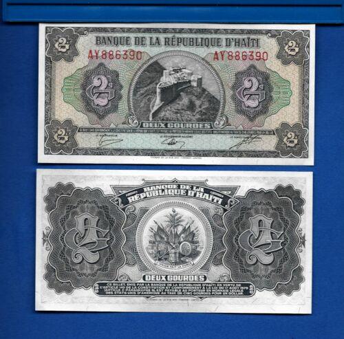 Haiti P-245A 2 Gourdes Year L.1979 Uncirculated Banknote