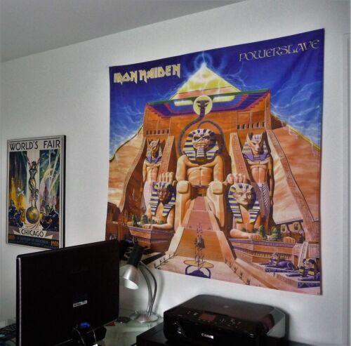 IRON MAIDEN Powerslave HUGE 4X4 BANNER fabric poster tapestry flag album cd