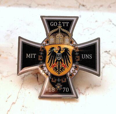 PIN Gott mit uns 1870 Preussen - Preussen Wappen Ansteck PIN