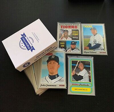 Customized Gift Cards (2019 Topps Heritage Detroit Tigers Team Set 1-715 +Inserts (18); CUSTOM GIFT)