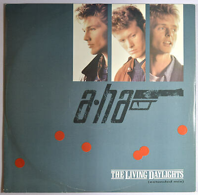 """A-HA Living Daylights (Extended Mix) - UK 12"""" inch New Wave Electronic Synth-pop"""