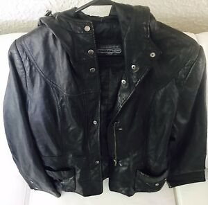 LEATHER JACKET (HOODED-SMALL)