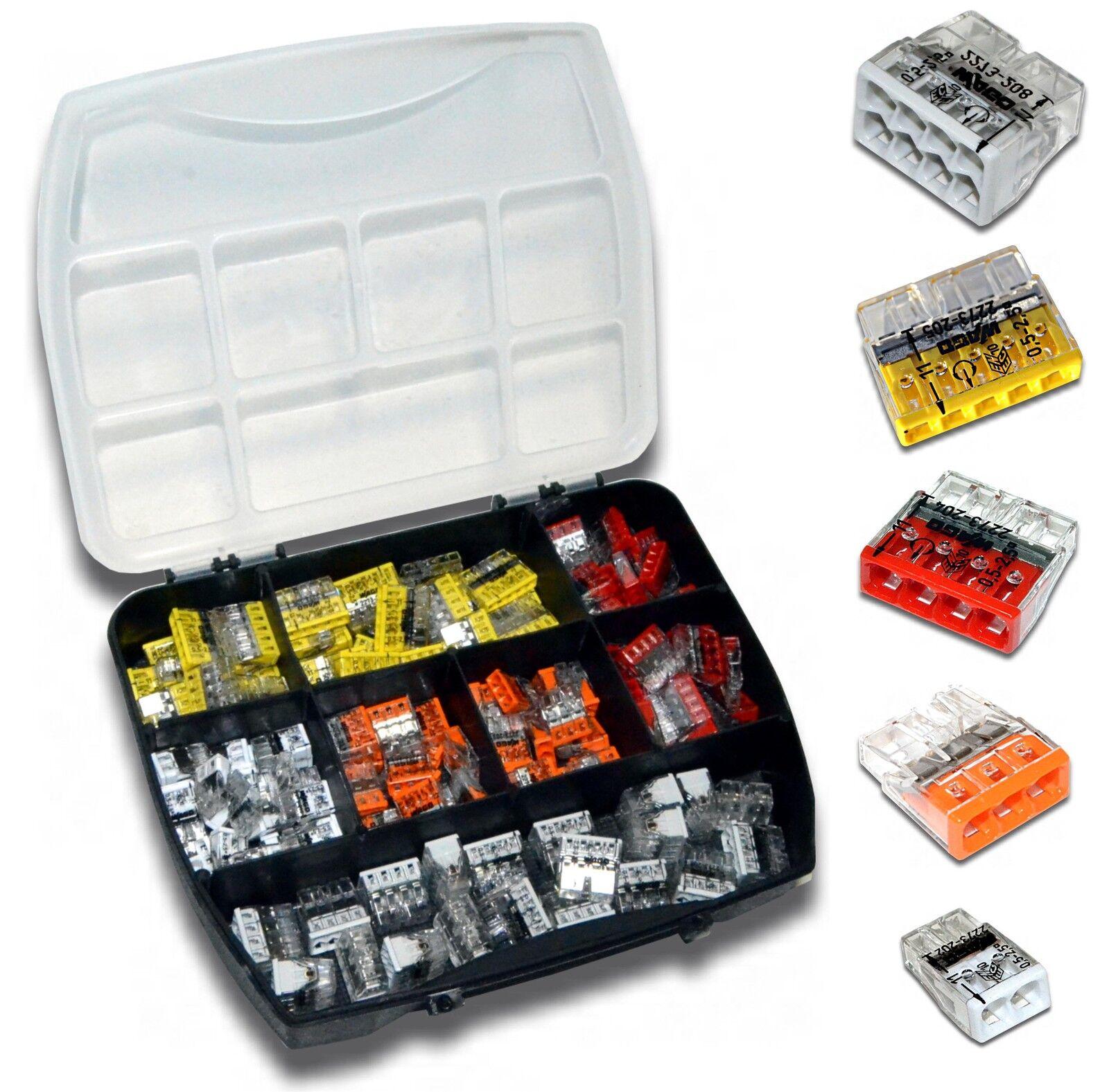 160 Stück | Sortiment WAGO Klemme | Wago 2273 | Box Set Verbindungsklemme