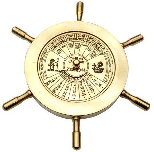 Marine 40 Years Perpetual Calendar Vintage Nautical Antique Brass Astrolabe