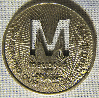 WASHINGTON DISTRICT OF COLUMBIA METROBUS TOKEN 1973 Washington 500AL whotoldya