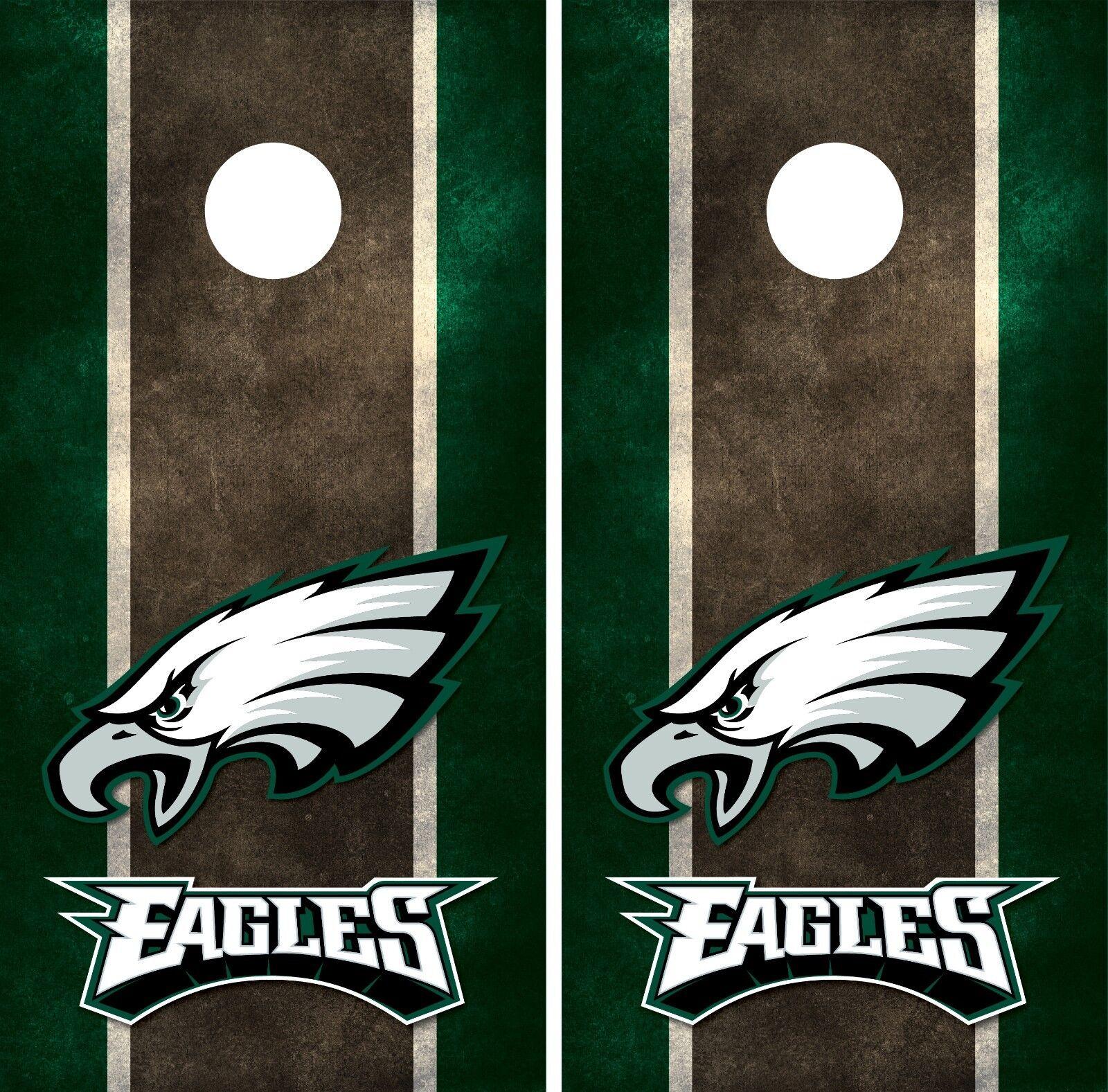 Philadelphia Eagles Cornhole Board Decal Wrap Wraps Ebay