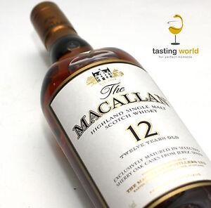 MACALLAN 12 Jahre Sherry Oak Casks - Single Malt Whisky 43% Vol. Alc.