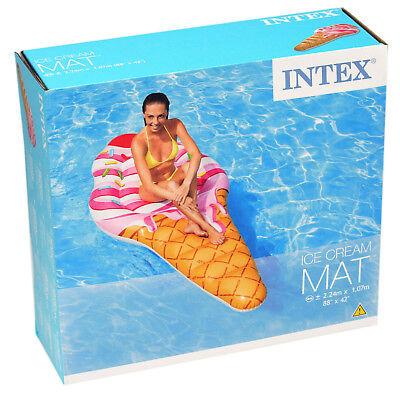 Intex Luftmatratze Ice Cream Lounge Waffel Eis Pool Matratze 102361 Ice Cream