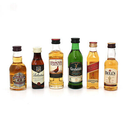 Scotch Whisky Tasting Set - 6 Miniaturen je 5cl - Glenfiddich Walker Chivas u.a.