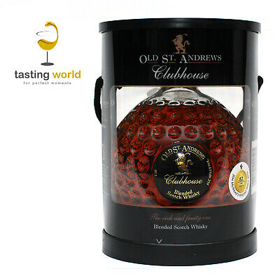 Golf Geschenkset OLD ST. ANDREWS Clubhouse Scotch Whisky GOLFBALL-FLASCHE 0,7l