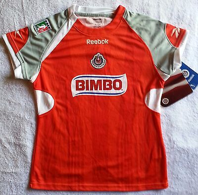 0b94f853b72 Reebok Authentic Mexico Chivas Guadalajara Women Soccer Shirt Jersey Futbol  S