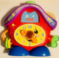 Fisher Price Laugh & Learn Peek-A-Boo Cuckoo Clock Light-Up Musical.  Great Cond