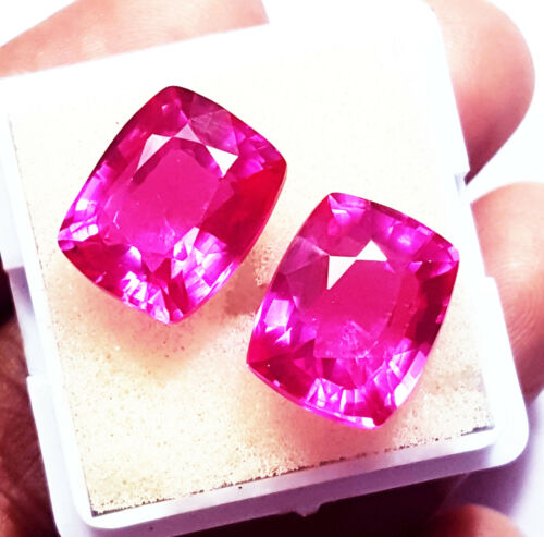 Natural Pink Sapphire  Loose Gemstones 8 to 10 Cts Certified Pair ~~ RK10