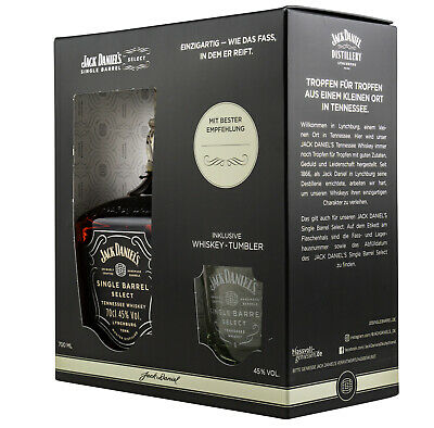 NEU Geschenkset! Jack Daniels Single Barrel + Single Barrel Tumbler 0,7l - 45%