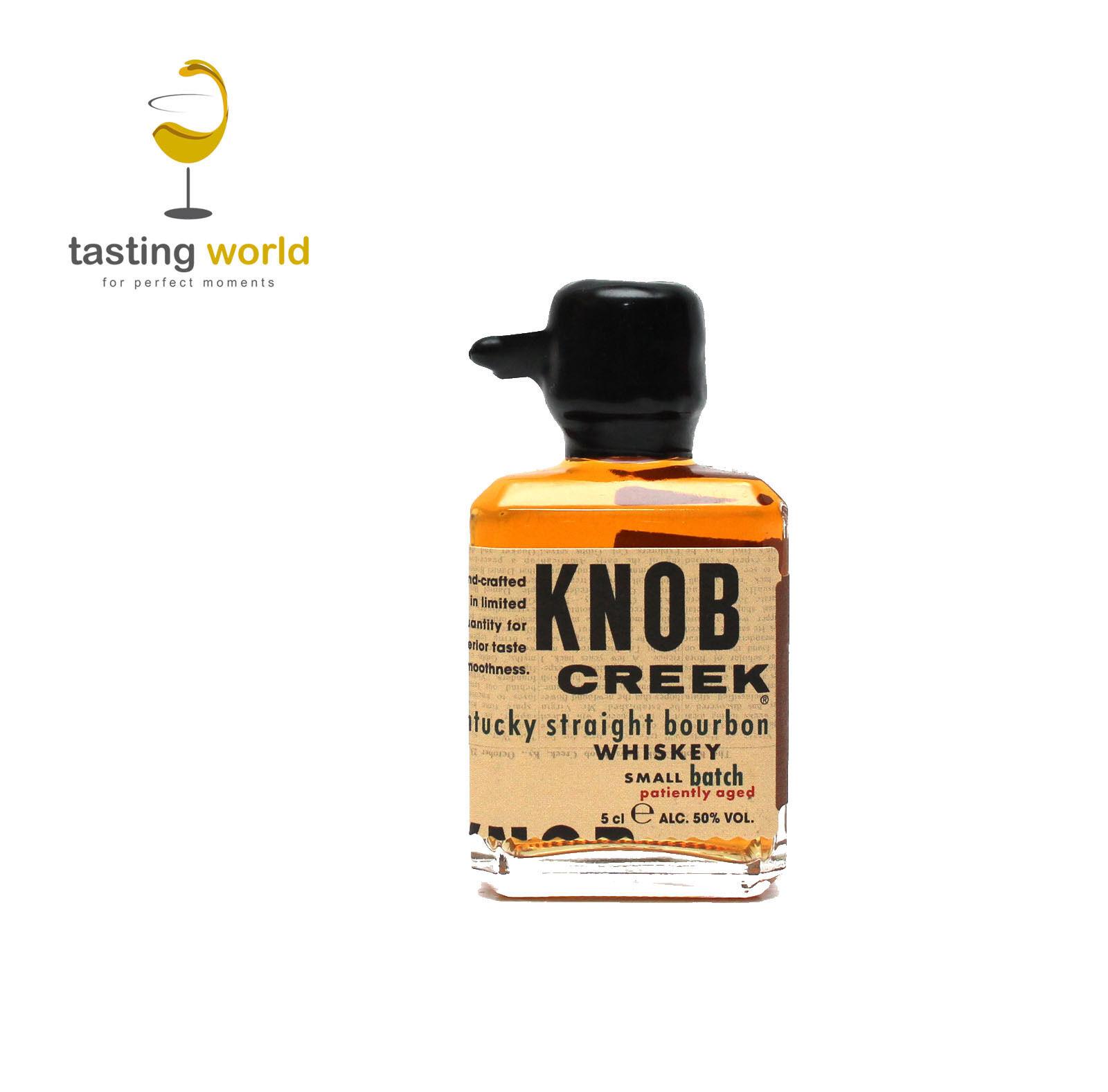"Knob Creek ""patiently aged"" Kentucky Straight Bourbon Whiskey Miniatur 5cl Mini"