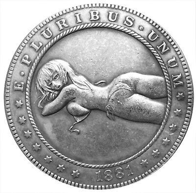 Transcension Morgan Dollar Heads Tails Good Luck Token Coin US SELLER FAST SHIP