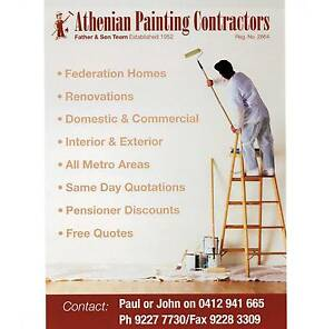 Athenian Painting Contractors North Perth Vincent Area Preview