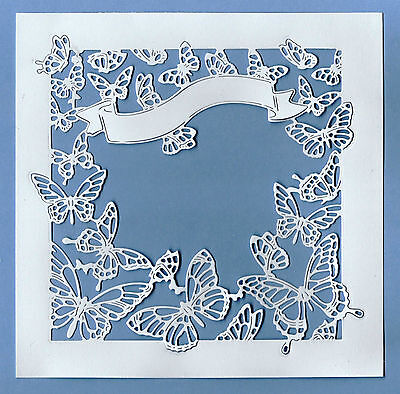 6 Beautiful New Tattered Lace Botanical Butterfly Frame Die Cut Toppers