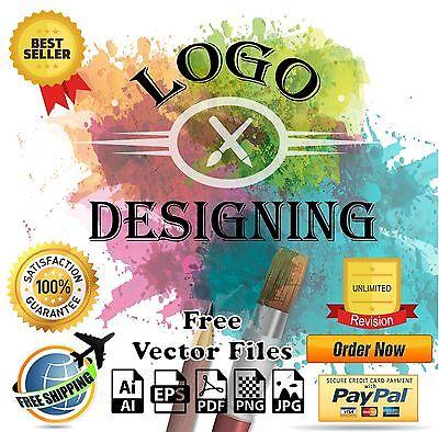 Professional Custom Logo Designing Service - Unlimited Revision - Vector File