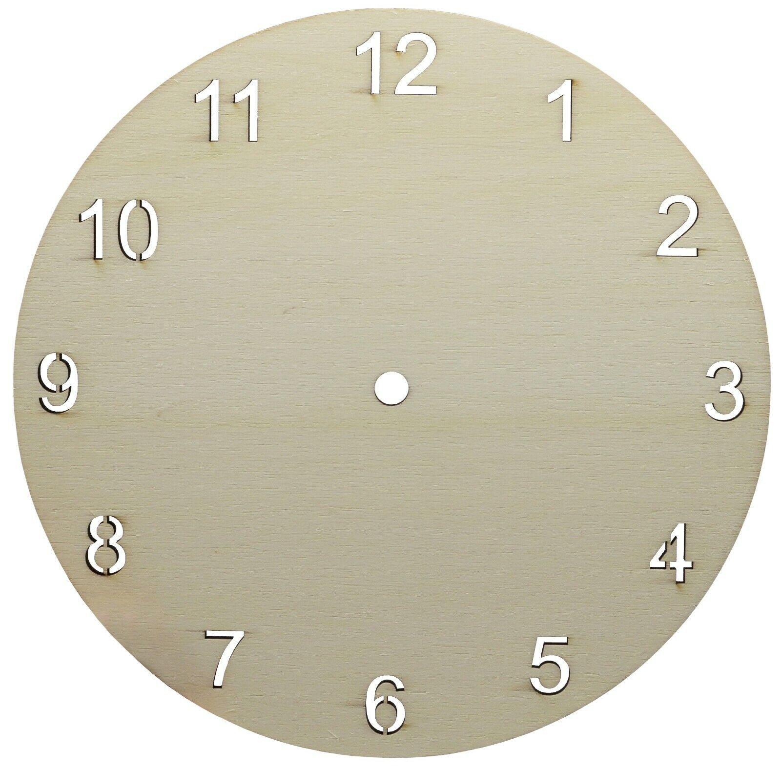 9″ Round Clock Face for Crafts, DIY Unfinished Wood Clock Blank – Make Your Own Crafts