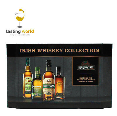 IRISH WHISKEY TASTING SET - 4 x 5cl - Geschenkpackung - Kilbeggan Connemara