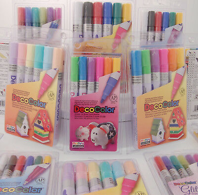 Marvy Uchida DecoColor Glossy Oil Base Paint Marker - Many Styles - Your - Deco Color Markers