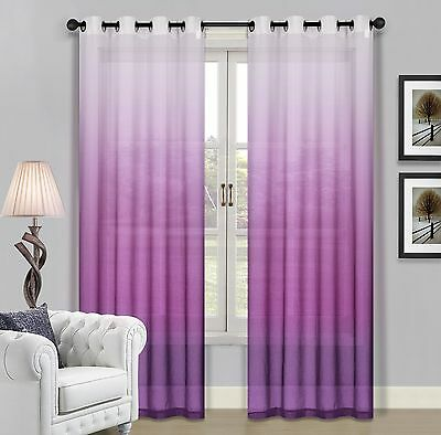 Beverly Windows (Beverly Hills Ombre Sheer Grommet Window Panels a Pair of 2 Panels 52