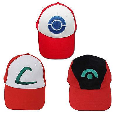 Pokemon Go Baseballmütze Ash Ketchum Cosplay Kostüm flache justierbare (Ash Kostüm Pokemon)