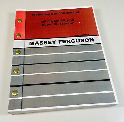 Massey Ferguson 85 88 Super 90 Tractor Service Repair Manual